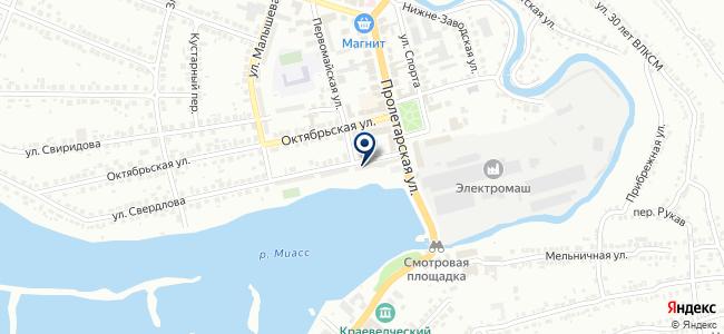 Тэн-Миасс на карте