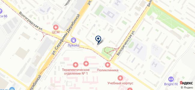 Волгоградская на карте