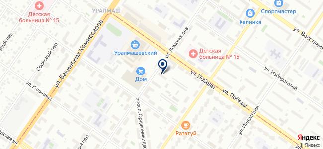 Абажур-Екатеринбург на карте