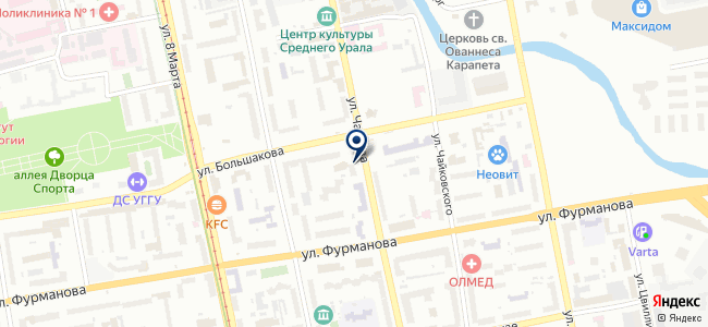 Минелаб на карте