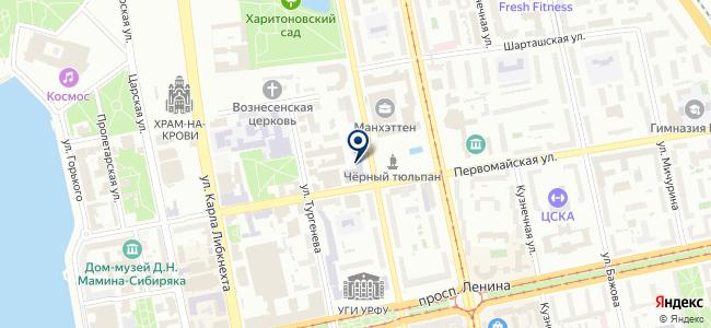 Свердловская ремонтная служба на карте