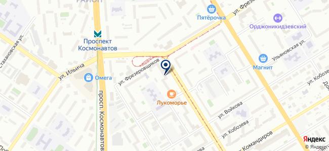 Фрезеровщиков на карте