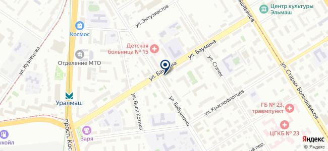 Магазин инструментов и крепежных изделий на ул. Баумана, 14 на карте