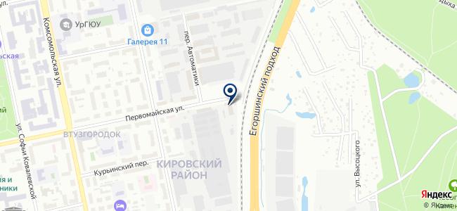 Уральский завод металлоконструкций, ЗАО на карте