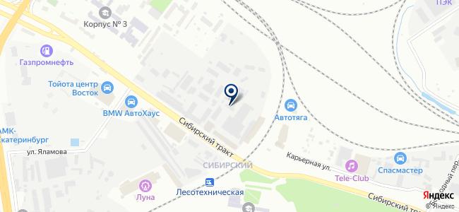 УралЭнергоСтрой, ЗАО на карте