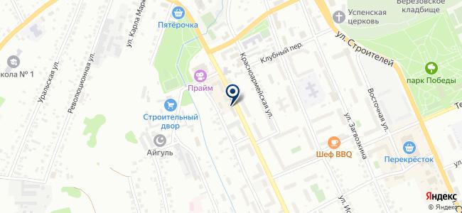 Бобрёнок на карте