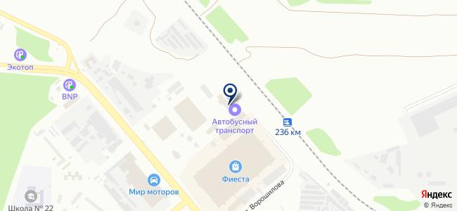 Челябинский автобусный транспорт, МУП на карте