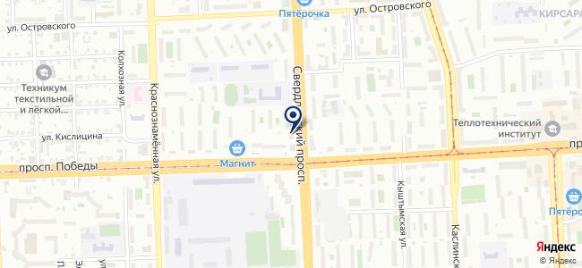 Лампа на карте