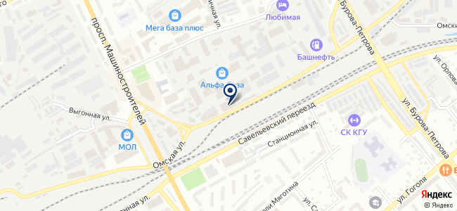 Торговый центр на Омской 101 на карте
