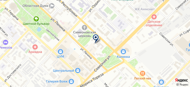 Центр регистрации бизнеса, ООО на карте