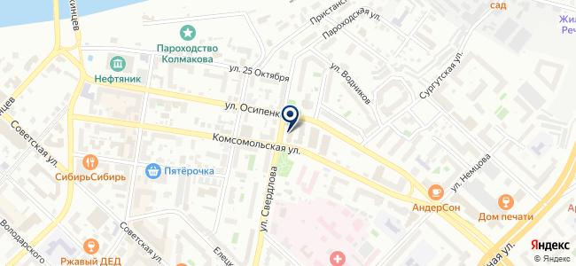 Тюменьеврострой, ООО на карте