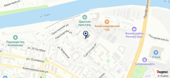 Тюменьсвязьфлот, ООО на карте