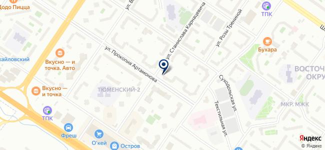 Артамоновский на карте
