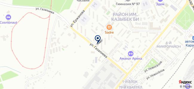 Камабек, магазин электрических товаров на карте
