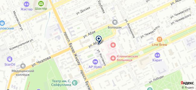 Бассар Электроникс, ТОО, торговая компания на карте