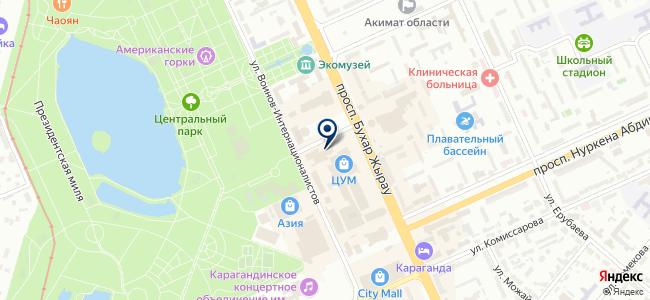 Прага, сеть магазинов элитной посуды на карте