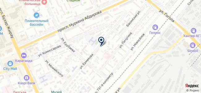 Techservice 2006, ТОО, торгово-сервисная компания на карте