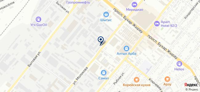 Казахский Свет, ТОО, торговая компания на карте