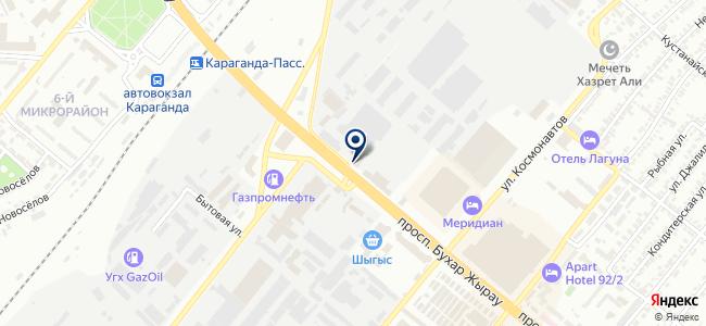 Алпроф-электро, ТОО, торговая компания на карте