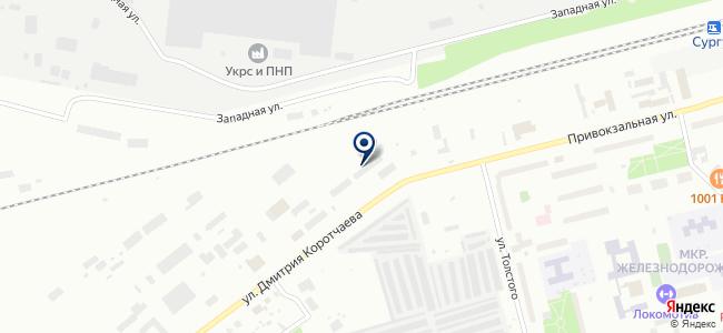 Сургутская дистанция электроснабжения на карте
