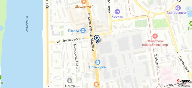 Геодезснаб-Омск, ООО на карте
