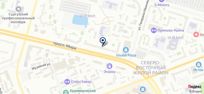 Сургутлак на карте