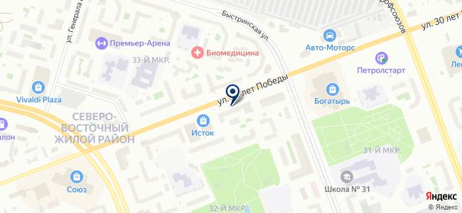 Верничи-Сургут на карте