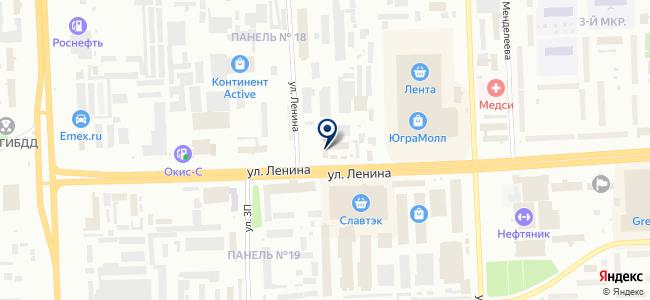 Неон на карте