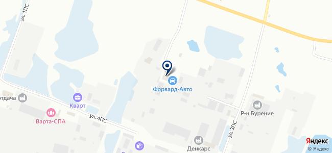 Форвард-Авто на карте