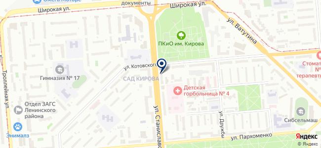 Магазин хозяйственных товаров и светотехники на карте