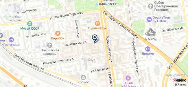 Сервер, ООО на карте