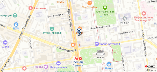 Юридическое управление, АНО на карте