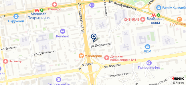 Мера, ЗАО на карте