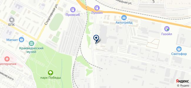 Бердское автотранспортное предприятие на карте