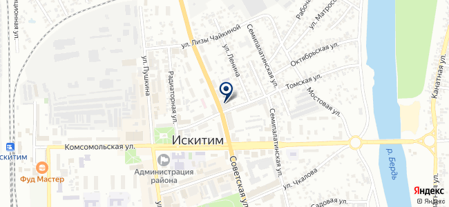 Крепеж на Томской на карте