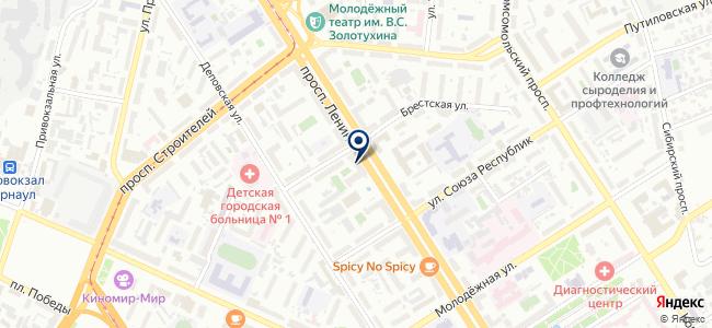 АТФ на карте