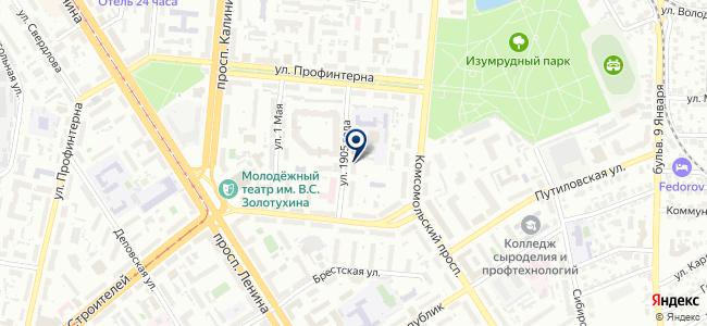 Теплый пол на Советской на карте