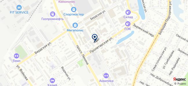 Пролетарский на карте