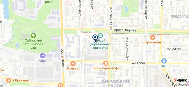 СВЕТ XXI века. Томский завод светотехники, ЗАО на карте