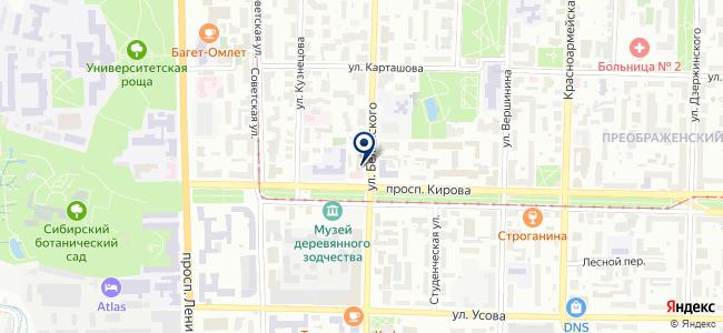 Центр лабораторного анализа и технических измерений по Томской области на карте