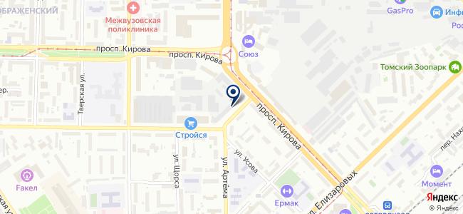 Томский электротехнический завод, ОАО на карте