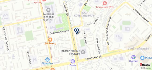 Эскор на карте