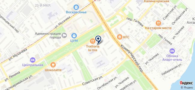 Городской транспортный диспетчерский центр, МУП г. Бийска на карте