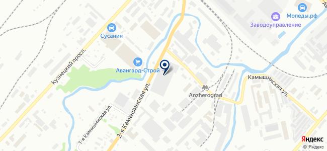 Кемеровская автоколонна №1237, ГП Кемеровской области на карте