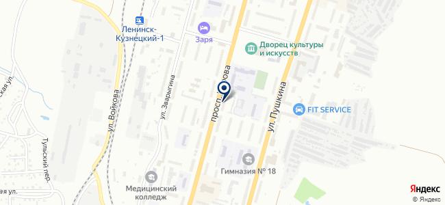 Кузбасс-потолок на карте