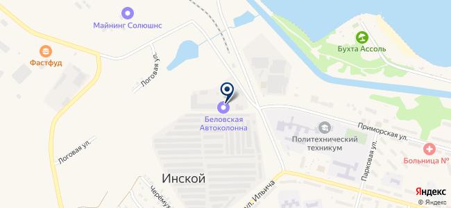 Беловская Автоколонна, ЗАО на карте