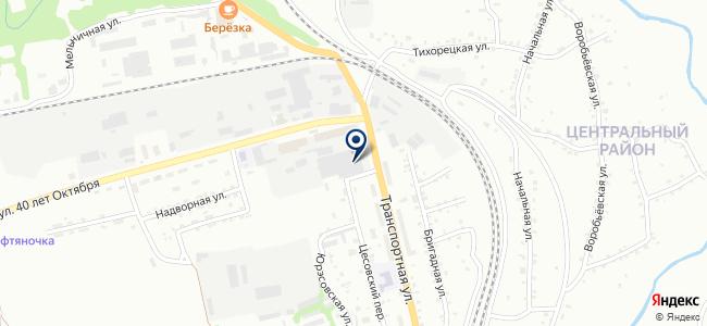 Магазин строительных, отделочных материалов и электротоваров на карте