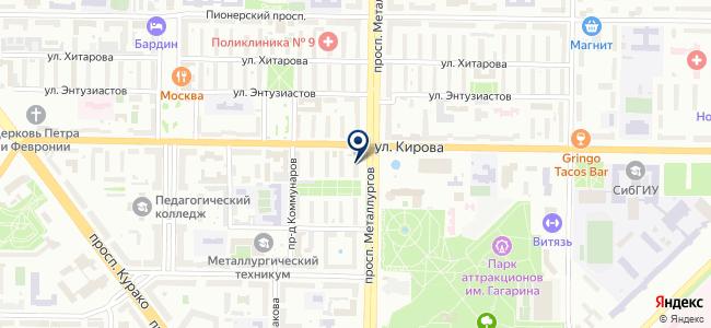 Телефоны на карте