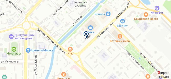 Кузнецкие электрические сети-42 на карте