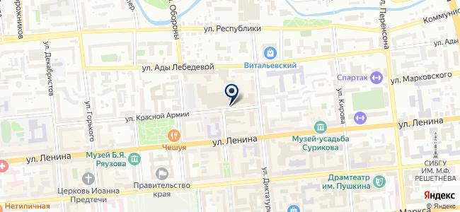 Магазин посуды и люстр на карте